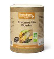 Nat&form Eco Responsable Curcuma + Pipérine Bio Gélules B/200 à Le Mans