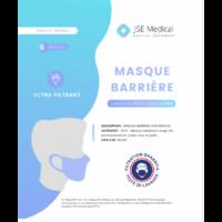 Masque Barrière Non Médical Adulte Blancs B/6 à Le Mans